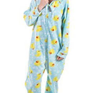 Forever Lazy Unisex Footed Adult Onesuit One-Piece Pajama Jumpsuit