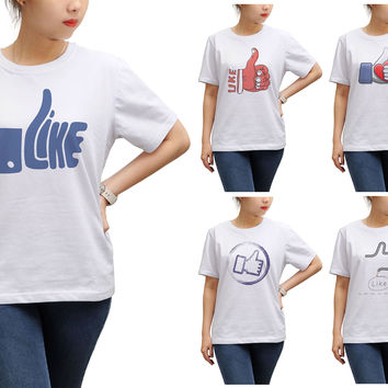 Women Like icons Printed Short Sleeves T-shirt WTS_17