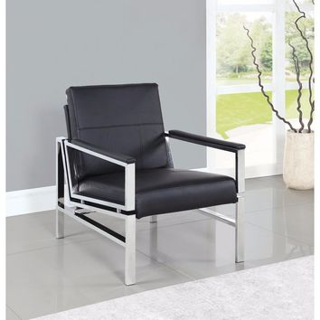 Modernly Sophisticated Accent Chair, Black