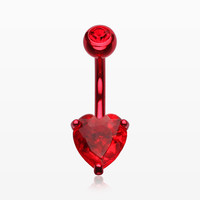 Jelly Belly Heart Sparkle Belly Ring