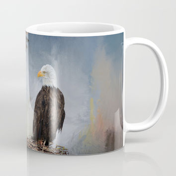 Eagles Nest Mug by Theresa Campbell D'August Art