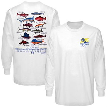 SEC Gear Multi Fish Long Sleeve T-shirt - White