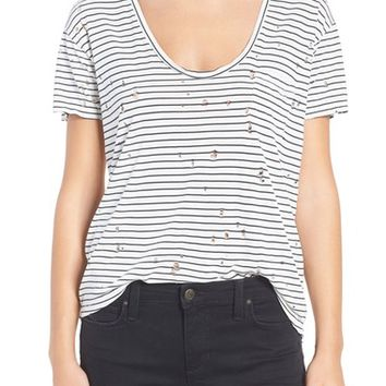 Joe's Jeans Gilles Destroyed Silk Blend Tee | Nordstrom