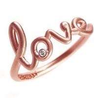 Avanessi Rose Gold Love Ring - Max and Chloe
