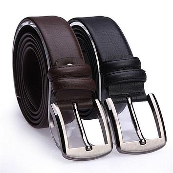Luxury Designer Cowskin Belt For Mens Wide Pin Buckle Leather Belt Strap Fashion Business Male Cow Skin Straps