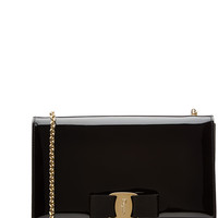 Salvatore Ferragamo - Ginny Mini Patent Leather Shoulder Bag