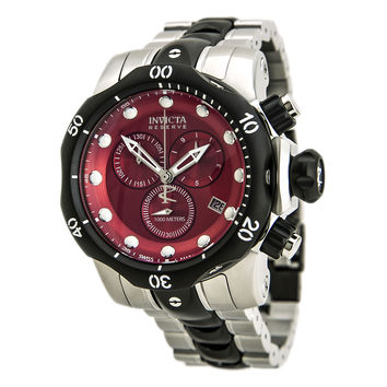 Invicta 80564 Men's Venom Chronograph Red Dial Two Tone Bracelet Dive Watch