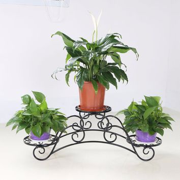 Elegant Arch Metal Potted Garden Patio Display Plant Rack Flower Flower Stand Suitable for Home Use