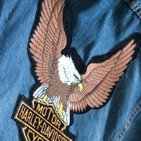 Vintage Harley Davidson Motorcycles Back Patch
