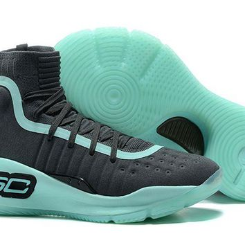 Jacklish Cheap Under Armour Curry 4 Wolf Grey/green Glow For Sale