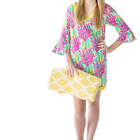 Coral Reef Beach Tunic, Bathingsuit Coverup, Bathing Suit Cover Up, Beach Dress, Pool Cover Up, Pool Coverup, Pool Dress