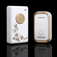 CACAZI 38 chimes wireless doorbell that waterproof . 200m range and long life . low price and high quality home door bell