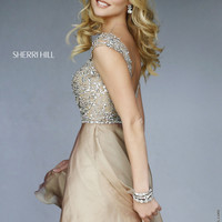 Sherri Hill 32320 Sparkly Crystal Beaded Chiffon Dress