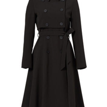 Line + Dot Black Nora Trench Coat