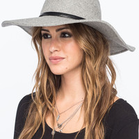 Ribbon Felt Womens Floppy Hat Gray One Size For Women 26657611501