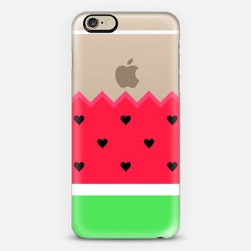 I Love Watermelon Transparent iPhone 6 case by Organic Saturation | Casetify