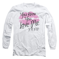 Gossip Girl Men's  You Love Me Long Sleeve White Rockabilia