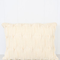 Chainlink Cable Knit Throw Pillow
