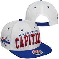 Zephyr Washington Capitals Super Star Snapback Hat - White/Navy Blue