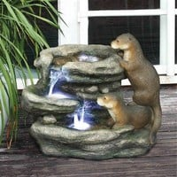 SheilaShrubs.com: Bright Waters Otters Garden Fountain Sculpture DW97060 by Design Toscano: Garden Fountains