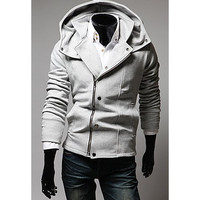 Clipping Zipper Long Sleeves Hoodies