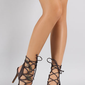 Shoe Republic LA Loops Lace Up Open Toe from URBANOG  Hoco