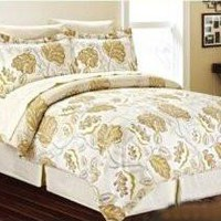 New Vanessa Bed in a Bag, Comforter Sheet Set Bedskirt Shams Sheet Set