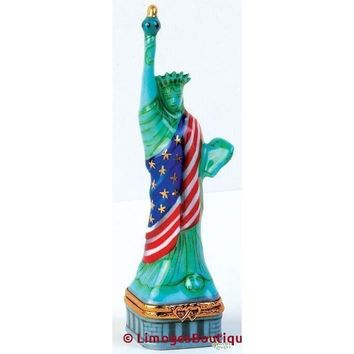Statue Of Liberty With Fl Limoges Box