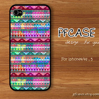 Purple pink light abstract aztec pattern : Handmade Case for Iphone 4/4s , 5