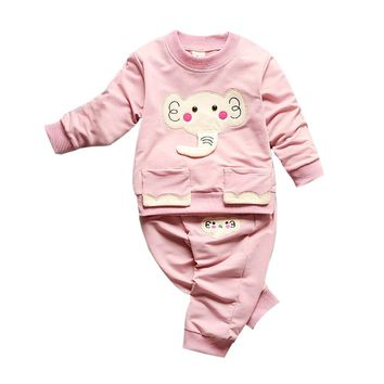 Toddler Boy/Girl Elephant Print Suit
