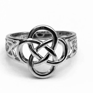 Celtic Knot Ring, Sterling Silver Celtic Ring, Celtic Jewelry, Celtic Design, Celtic Knot Ring, Gifts for Her