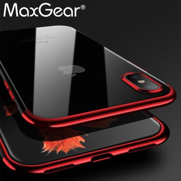 For iPhone X Case Silicone Cover Original For iphone X 10 Luxury Silm Protection Phone Soft Shell For iphoneX