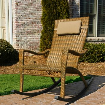 Tortuga Outdoor Maracay Oversized Wicker Rocking Chair
