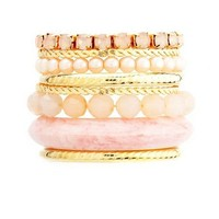 Marble Mix Bangle Set: Charlotte Russe