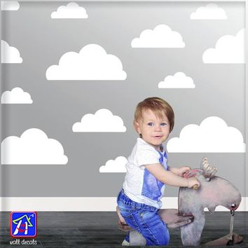 Cloud decals - Clouds Wall Decal - Nursery Wall Decal - kids bedroom - Baby Nursery Decal