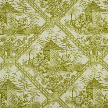 Robert Allen Fabric 222670 Tavern Toile Sprout