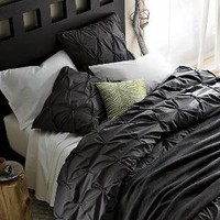 Organic Cotton Pin-Tuck Duvet Cover   Shams | west elm