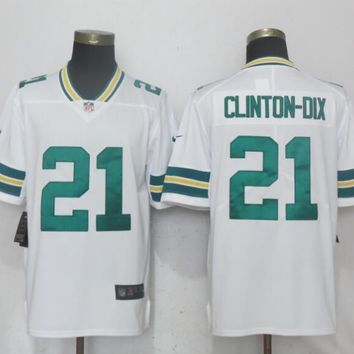 New Nike Green Bay Packers 21 Clinton-Dix White 2017 Vapor Untouchable Limited Playe