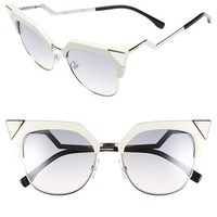 Fendi 54mm Metal Tipped Cat Eye Sunglasses | Nordstrom