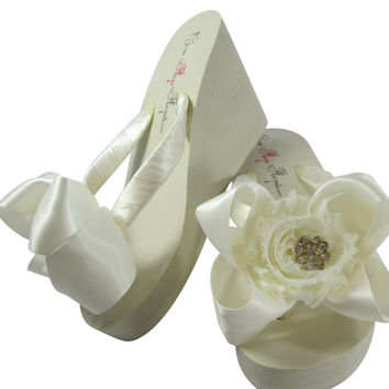 Shabby Flower with Daisy Bling Wedges