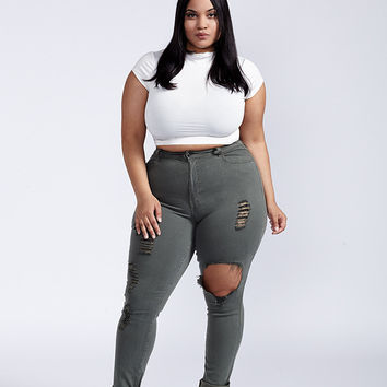 Formation Jean Plus Size - Olive