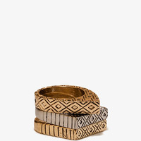 Etched Geo Ring Set