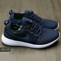"""NIKE"" Roshe Run Women Casual Sport Shoes Sneakers Navy blue G-HAOXIE-ADXJ"