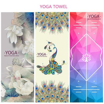 Microfiber Yoga Mat Cover Anti-Skid Gym Fitness Blanket Sports Exercise Pilates Towel