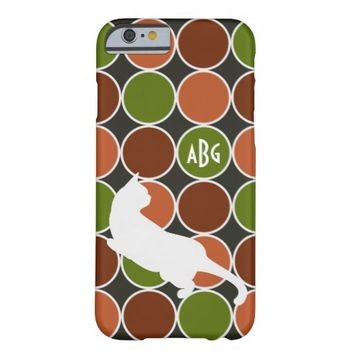 Playful Cat Monogram Modern Chic Barely There iPhone 6 Case