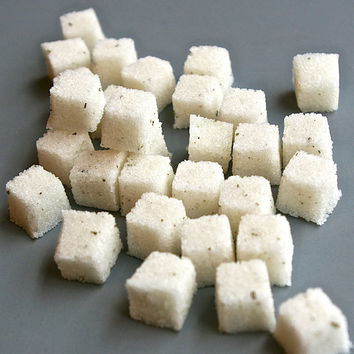 Rosemary Sugar Cubes for Tea Parties, Champagne Toasts, Favors, Tea, Coffee, Berries, Cider, Lemonade