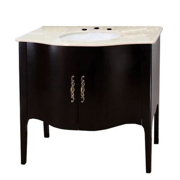 36.6 in Single sink vanity-wood-espresso