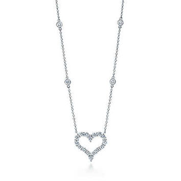 Tiffany & Co. - Tiffany Hearts® necklace with diamonds in platinum.