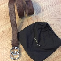 Gucci Brown Belt In Size 105/42