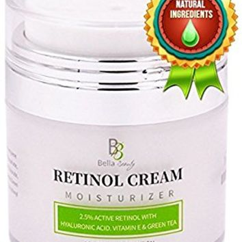 Retinol Moisturizer Anti Aging Cream for Face and Eye Area - With Hyaluronic Acid - 2.5% Active Retinol - Vitamin E - Reduce Appearance of Wrinkles and Fine lines - Best Day and Night Face Cream